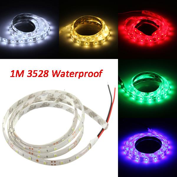 Buy 1M DC12V 3W 60 SMD 3528 Waterproof Red/Blue/Green/White/Warm White/RGB Flexible LED Strip Light