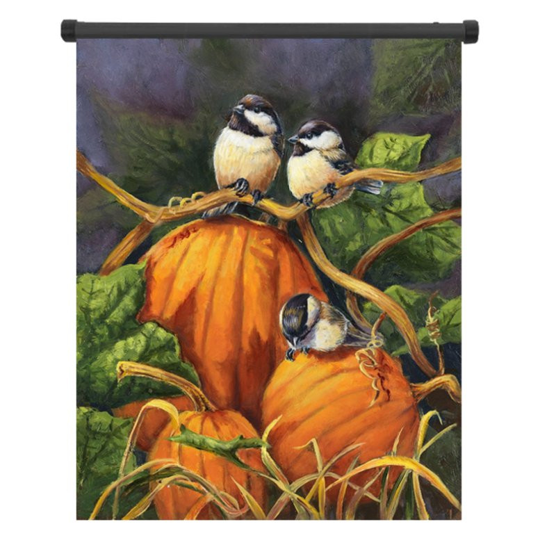 30x45cm Thanksgiving Polyester Pumpkin Birds Welcom Flag Garden Holiday Decoration