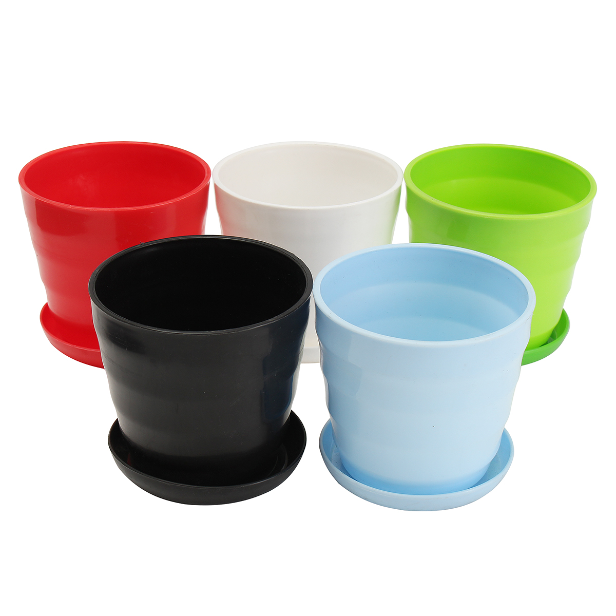 small plastic plant pot colorful flower pot durable decoration container diy home garden alex nld. Black Bedroom Furniture Sets. Home Design Ideas