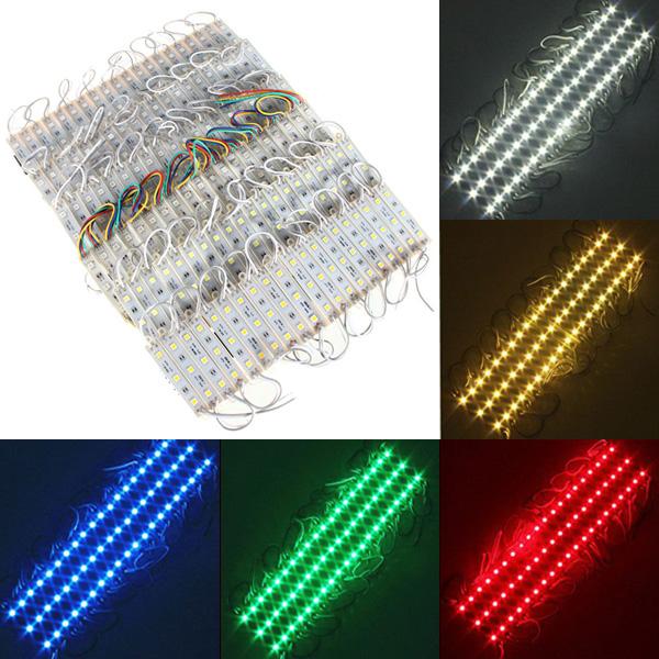 20 Pieces 5050 SMD 60 LED Module Rigid Strip String Light Multi-Colors Waterproof DC 12V Sale ...
