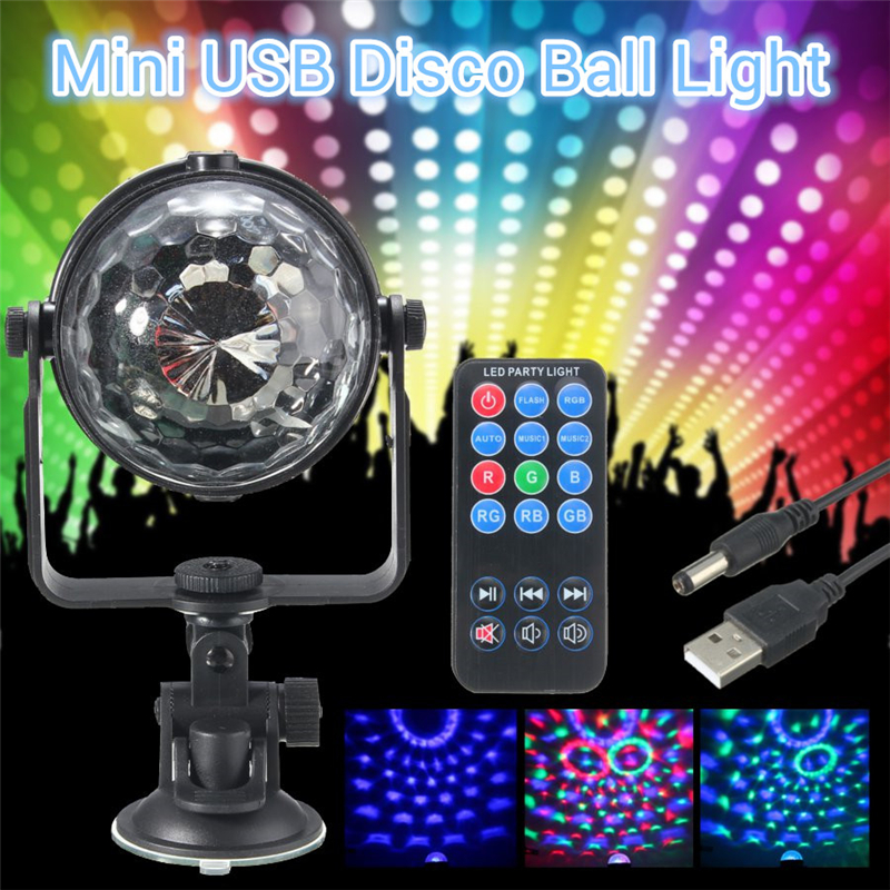 USB Mini Stage Effect Lighting Crystal Ball LED RGB Disco DJ Party KTV Club Show Lamp
