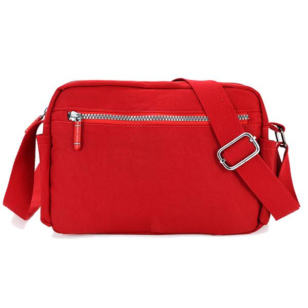 女性の軽量ナイロン防水ショルダーバッグカジュアル屋外クロスボディバッグ小さなメッセンジャーバッグ
