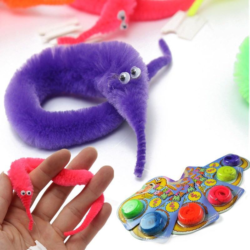 6PCS Magic Twisty Fuzzy Worm Wiggle Moving Sea Horse Kids Trick Toy Six Color (Eachine1) Henderson Продам товары