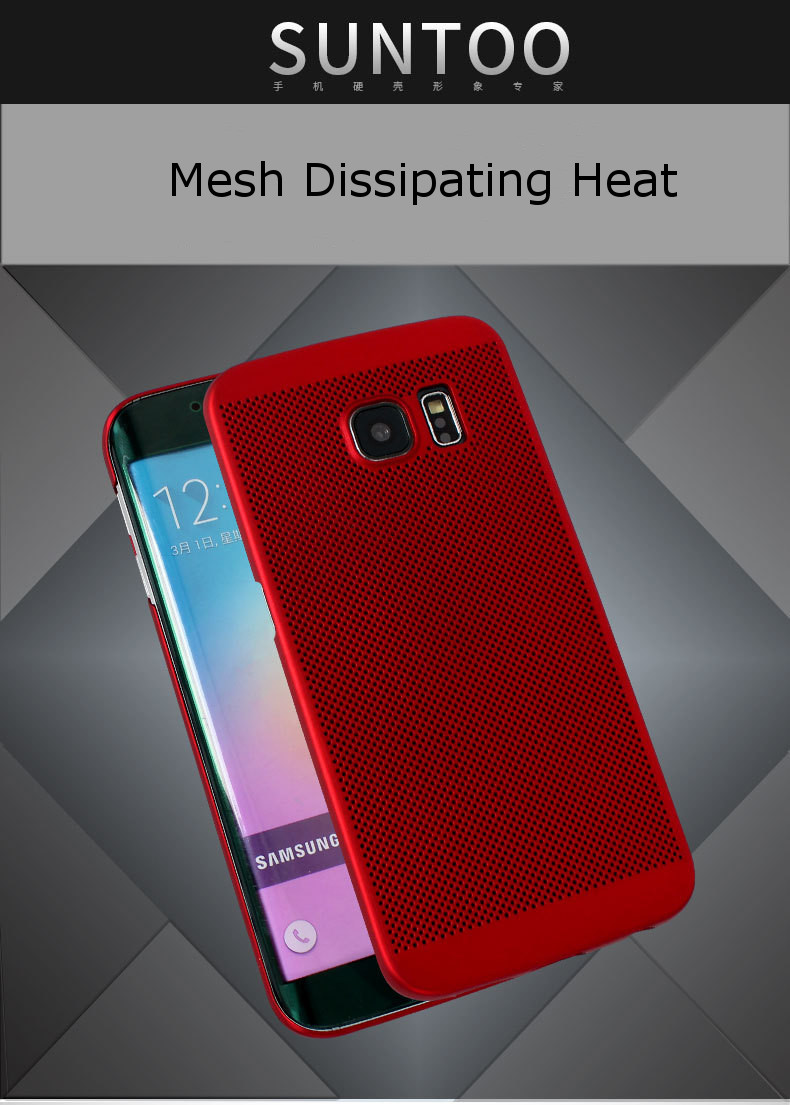 Mesh Dissipating Heat Anti Fingerprint PC Case for Samsung Galaxy S6 Edge