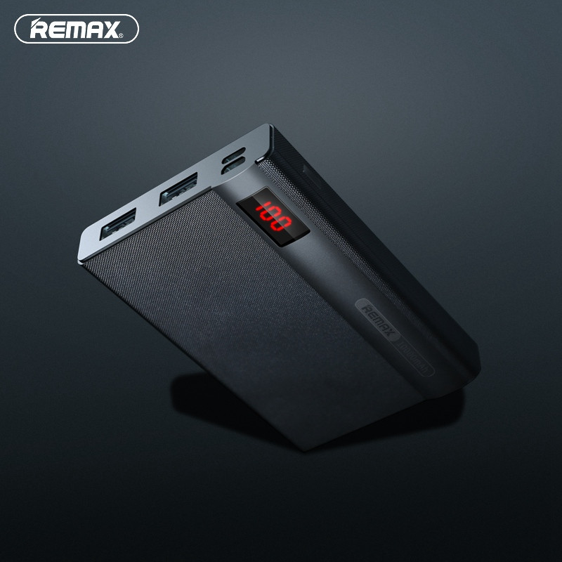 Remax RPP-53 External 2 USB Port 10000mAh LED Diasplay Power Bank For iPhone 7 Samsung Xiaomi