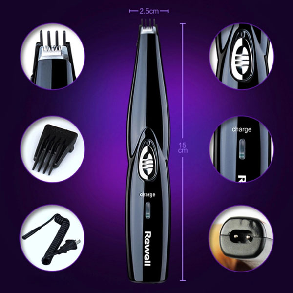 Rewell Carving Electric Hair Modeling Cutter Rechargeable Cordless Grooming Hairstyling Shape Clipper