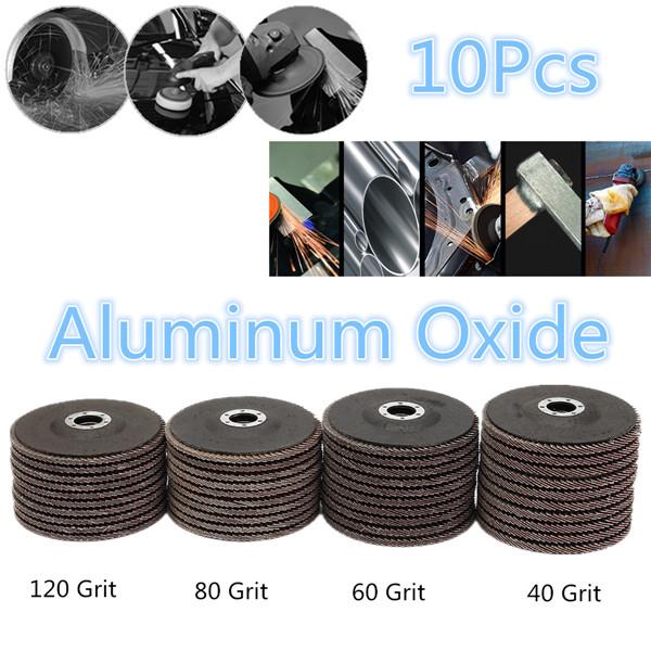 10pcs 5 Inch 125mm 40/60/80/120 Grit Aluminum Oxide Flap Disc Sanding Grinding Wheels