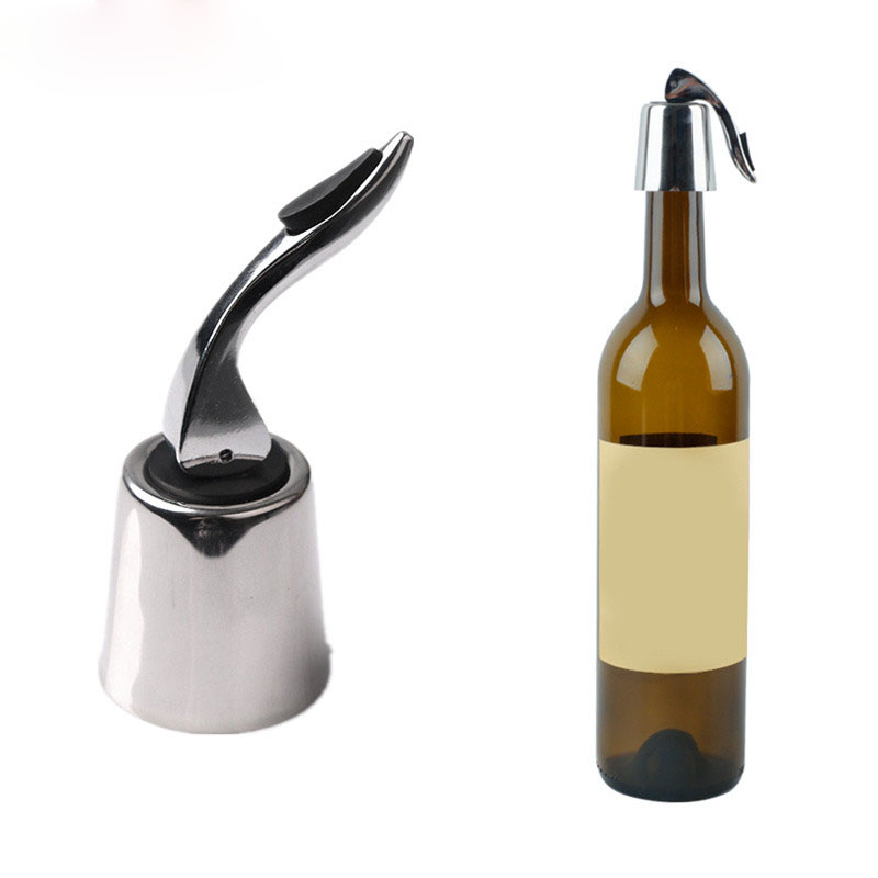 KCASA KC-SP002  1pc Wine Vacuum Bottle Stopper Stainless Steel Home Bar Wine Collection Red Wine Champagne Stopper