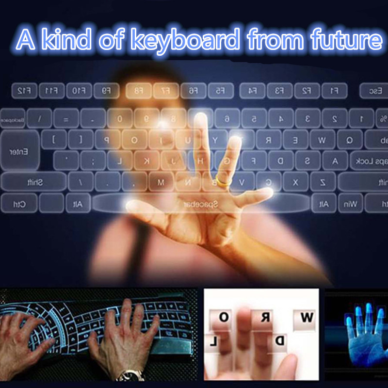 Laser Projection Virtual Laser Keyboard With 5200mAH Power Bank 11