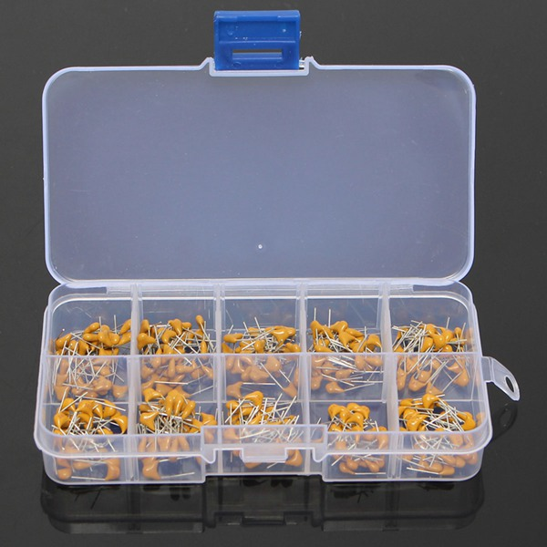 300Pcs 10Value 50V 10pF To 100nF Multilayer Ceramic Capacitor Assortment Kit 100 pcs lot cbb capacitor 630 v473 473 k 473 v 47 nf feet from 10 mm cbb22 film capacitor