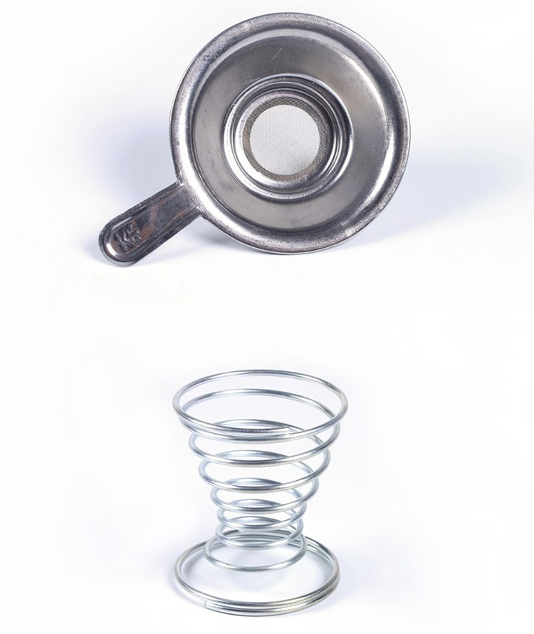 Stainless Steel Tea Filter Tea Strainer Spring Tea Stainer Holder Kungfun Tea Accessaries