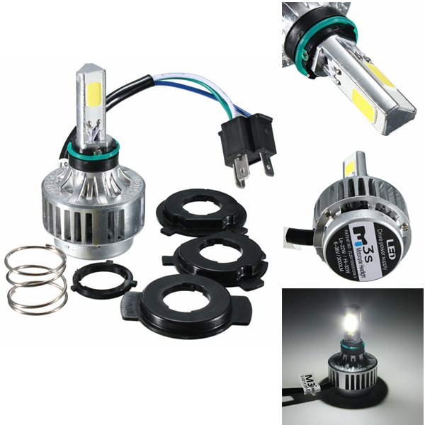 H4 32W 3000LM 6500K COB Hi/Lo Beam LED Motorcycle Headlight DC 9-16V alfex alfex 9011 838