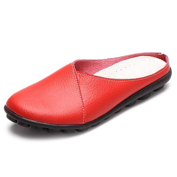 NOS Tamanho 5-12 Pure Color Sdot Sole Deslizamento Rodada Casual Slip On Flat Sapatos