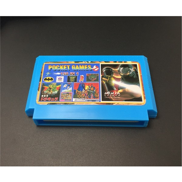 8 bit Retro Game Cartridge 150 in 1 with Game Rockman NINJA TURTLES Contra Kirby's Adventure 400 in 1 198 2pcs 8 bit fc nes game cartridge classical cards