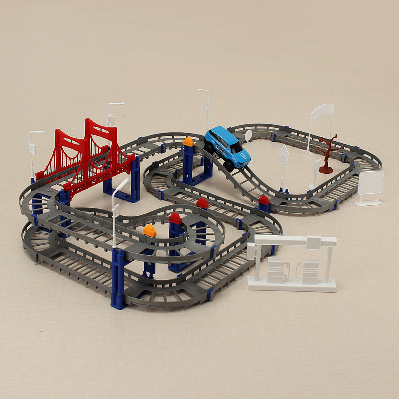HengJiang DIY Electric Car Racing Track Building Blocks Educational Toy