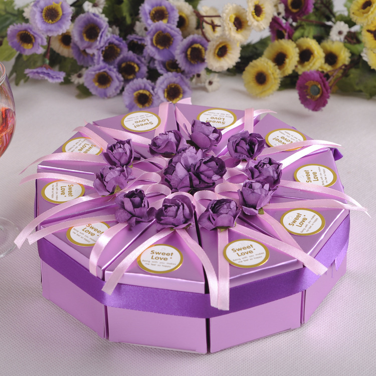 10pcs Creative Cake Candy Box Wedding Party Cake Chocolate Gift Boxes ...