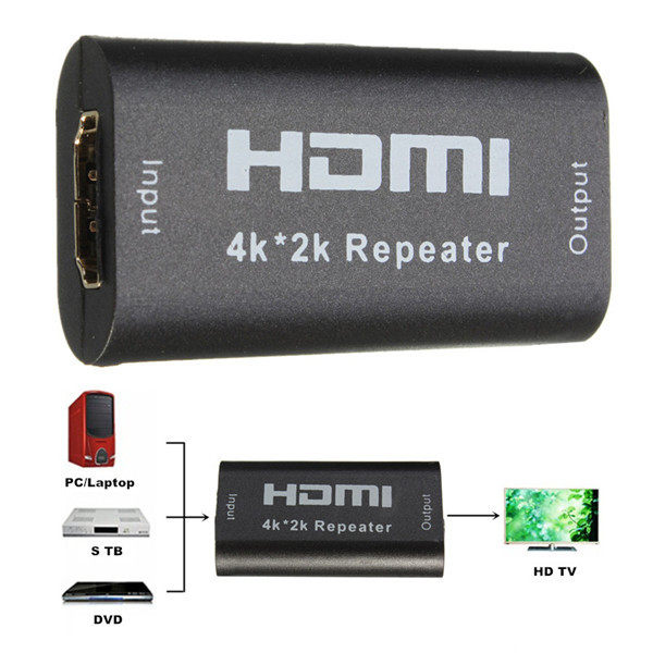 40M 130FT 1080p 1.65G Bps Mini HDMI Extender Repeater Amplifier Booste