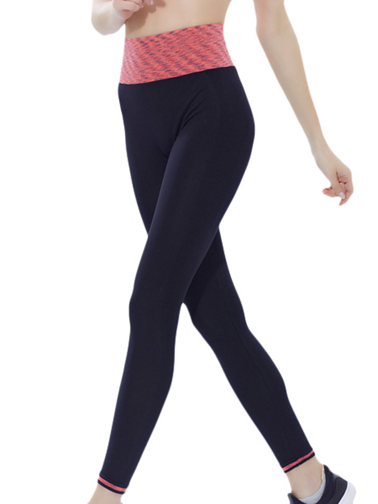 Women Sports Ninth Leggings Patchwork Quick Dry Running Yoga Fitness Pants Legging