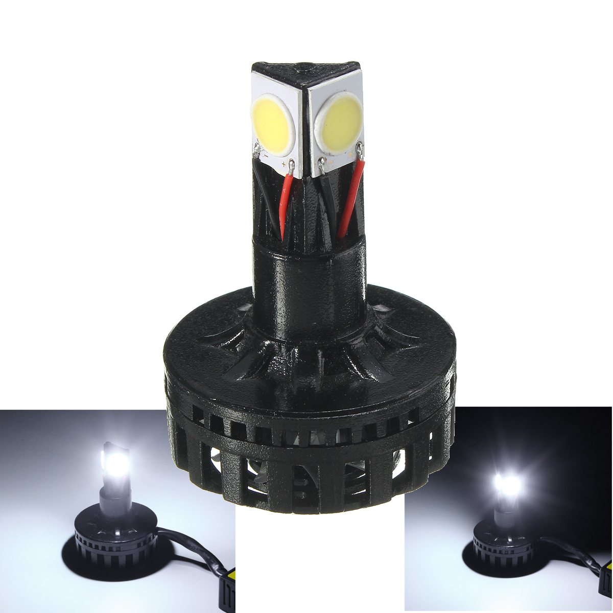 25W 1900lm 6500K Universal Motorcycle Auto Hi/Lo Beam LED Headlight Lamp Bulb