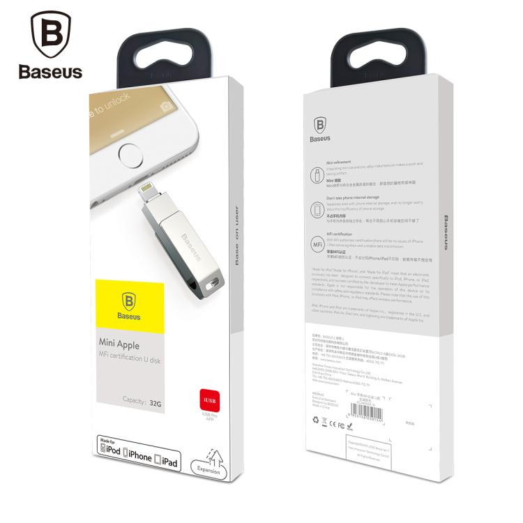 Baseus 32G Mini Apple MFI Certified U Disk Flash Disk For USB2.0 Lightning For iOS Windows OSX Linux