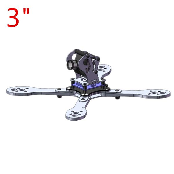 Realacc Belix 3 5 Inch 130MM 200MM Carbon Fiber Frame Kit with PDB for Multirotor