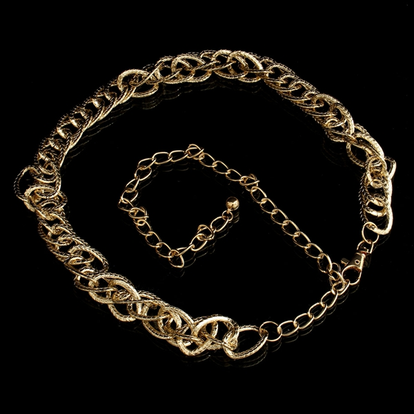 Gold Metal Link Waist Chain Belt Women Body Jewelry