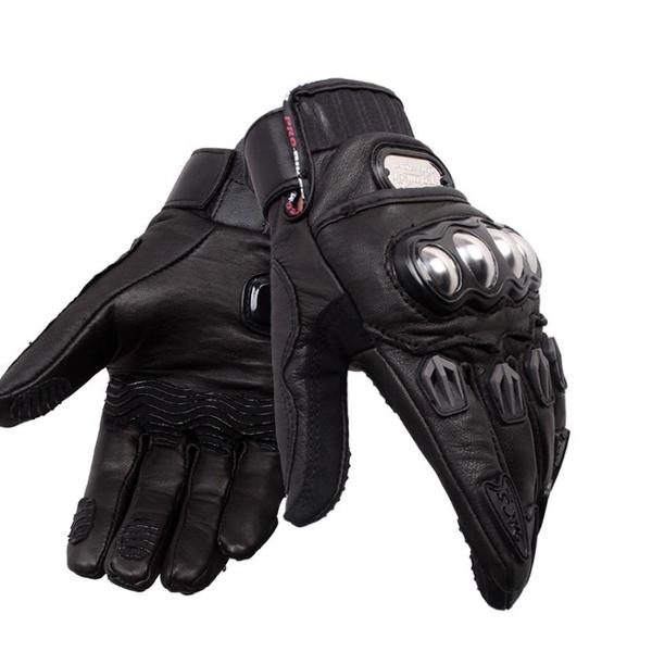 Motorcycle Driving Genuine Leather Full Finger Gloves Motocross Racing Pro-biker MCS-06