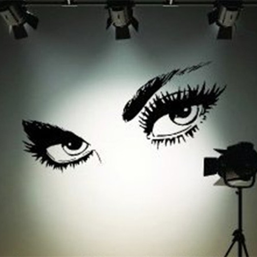 Buy 50 x 95cm Big Black Sexy Eyes Wall Stickers Beautiful Decal Home Decor