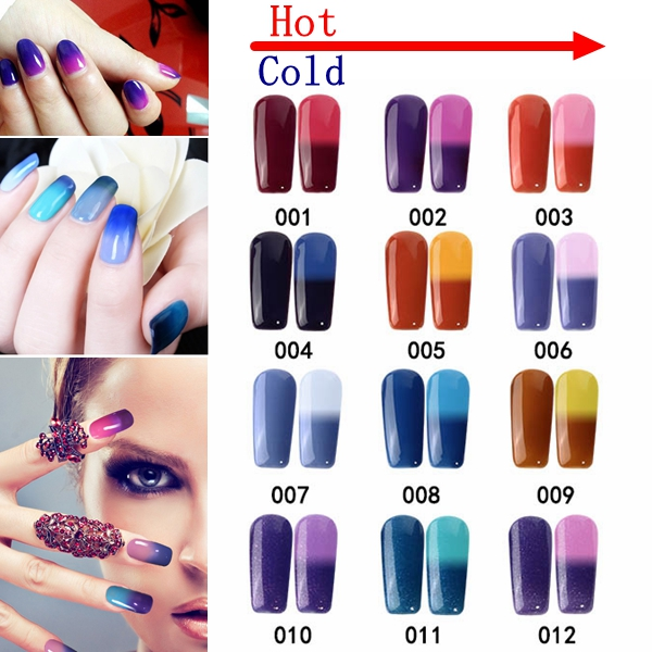 12 Colors Sensitive Temperature Thermal Color Changing Soak Off Gel Polish Thermosensitive Lacquer (Eachine1) Moreno Valley Покупка б у