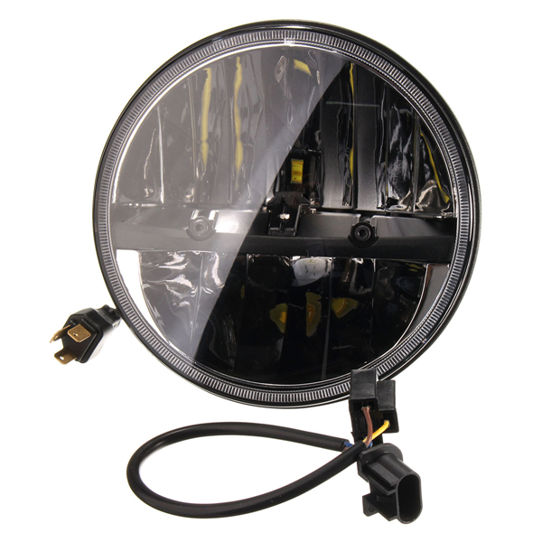 7Inch LED Projector Daymaker Headlight with 2pcs 4.5Inch Auxiliary Passing Lights For Harley
