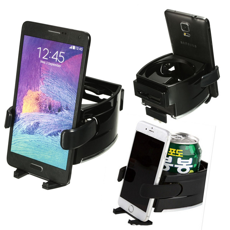 Universal Cup Drink Bottle Holder Mount Cradle Stand Car Air Vent Phone Holder Dual Multifunctional
