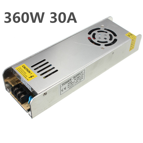 Mini Switching Power Supply 220V to 12V 30A 360W for LED Strip Light freeshipoing 360w led switching power supply 85 265ac input 12v 30a for led strip light power suply ce rosh 12 output