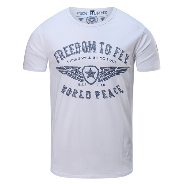 Summer Men's Military Style Cotton T-Shirt