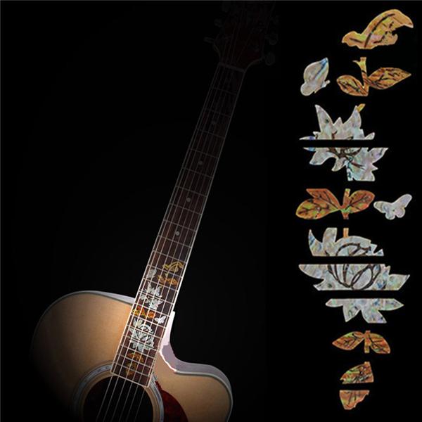 Guitar Bass Inlay Fretboard Sticker Marker DIY Fret Decal Butterfly over Flower (Eachine1) Gresham товары новое