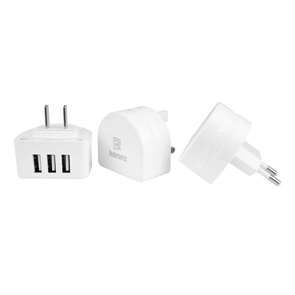 Buy Original REMAX 3 USB Ports 3.1A Universal EU UK US Charger For Xiaomi Samsung Huawei Doogee HTC LG