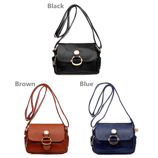 Women Elegant Crossbody Bags Vintage PU Leather Shoulder Bags Casual Bags
