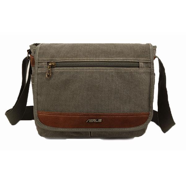 AERLIS Bag, Men Women Canvas, Retro Multifunctional, Outdoor Shoulder Crossbody Bag