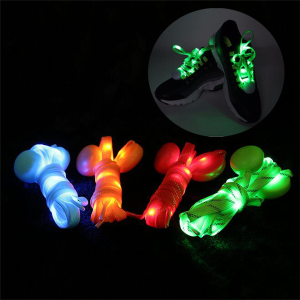 2 LED Light Shoelace Night Runner Safety Shoe String