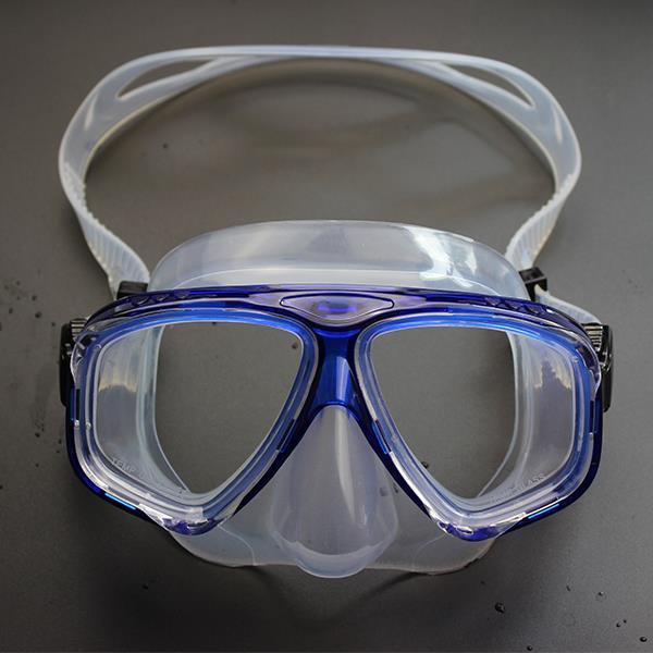 Anti-fog Waterproof Diving Swim Goggles Diving Glasses Face Mask Eyewear Tempered Glass Lens