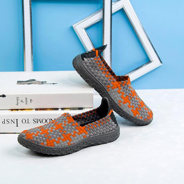 Unisex Cとしてual Flat 靴 Spまたはt Runnにg Breathable Slip On Knittにg Athletic 靴