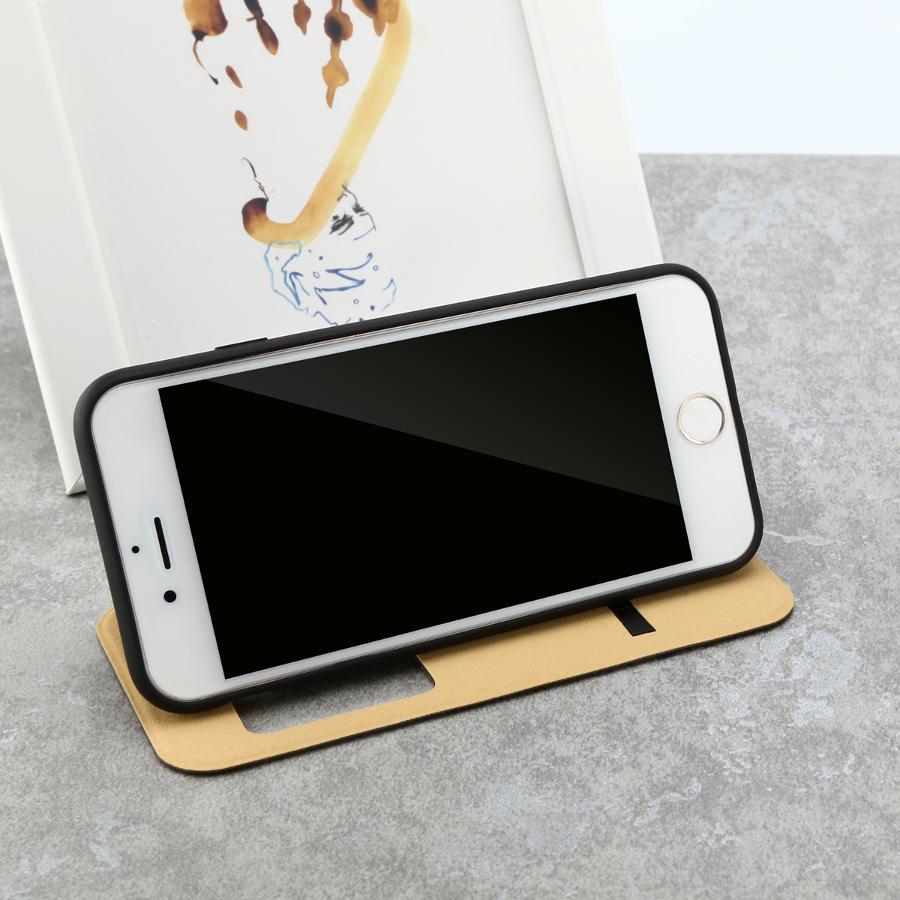 Baseus простой серии защитный чехол пу + TPU кожи с кронштейном для телефона iPhone 7 4.7 дюймов