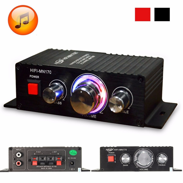 Mini HiFi Stereo Audio Power Amplifier Bass Booster MP3 Player for Car Home
