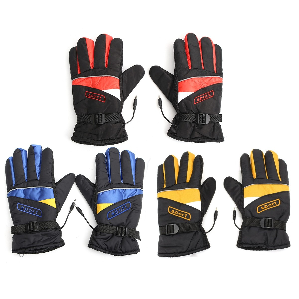 12V/48V/60V Waterproof Electric Heated Gloves Winter Inner Warmer Motorcycle Ski Racing