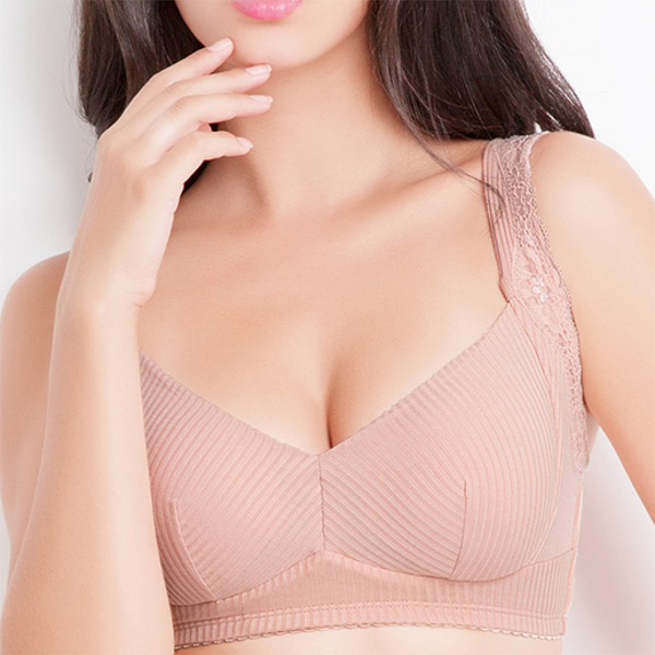 Sexy No Rims Lightly Lined Bra Jacquard Solid Color Comfort Sleeping Underwear For Women