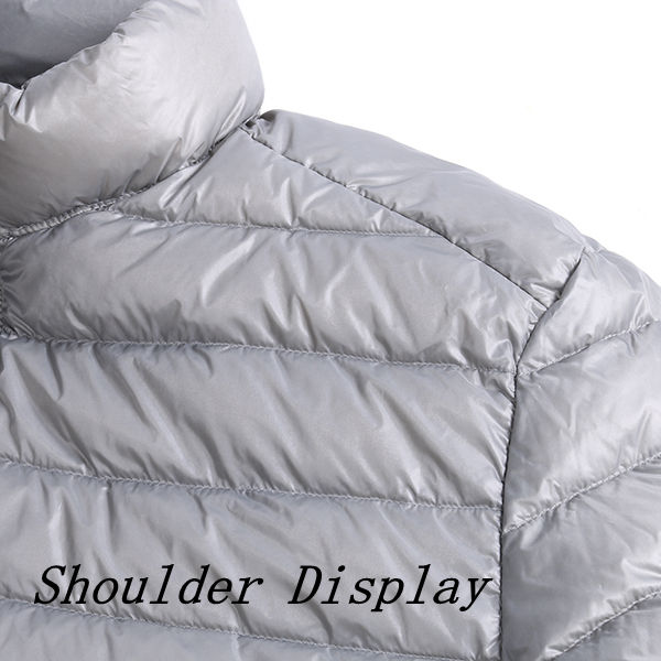 Big Size Mens Lightweight Duck Down Jacket Windproof Warm Casual Jacket Coat