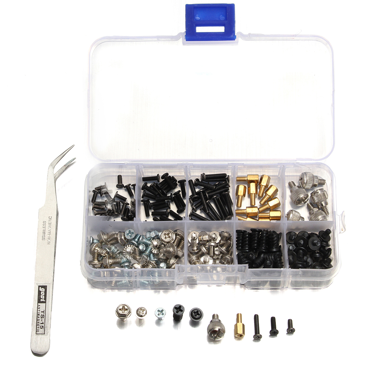 206pcs kit viti di computer con pinzetta per il disco for Case di kit vittoriano