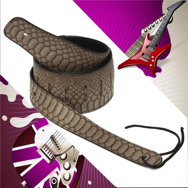 Buy Python Skin Adjustable Guitar Strap For Electric Bass