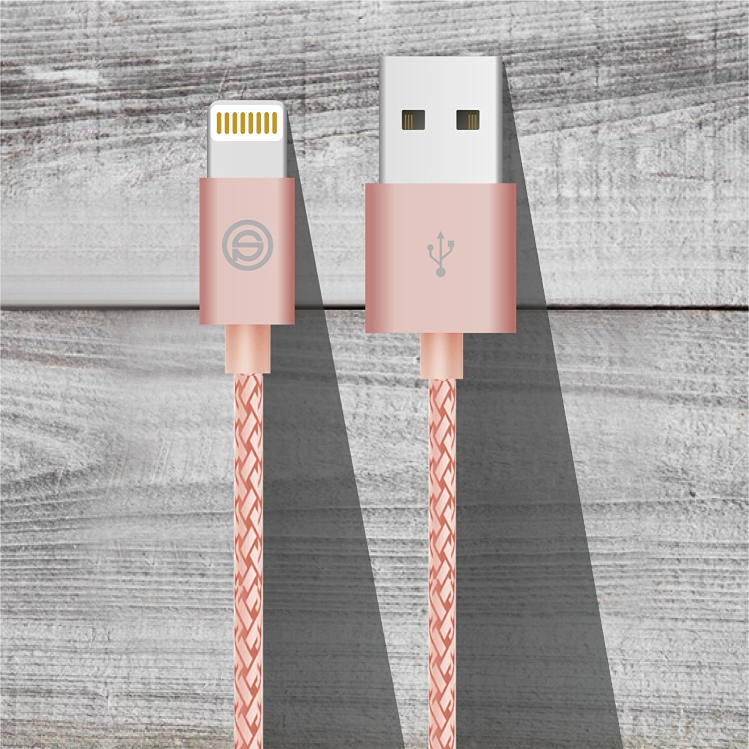 OPSO MFi Certified 1m/3.3ft Nylon Braided Lightning To USB Charging Cable For iPhone 7/7 Plus iPad