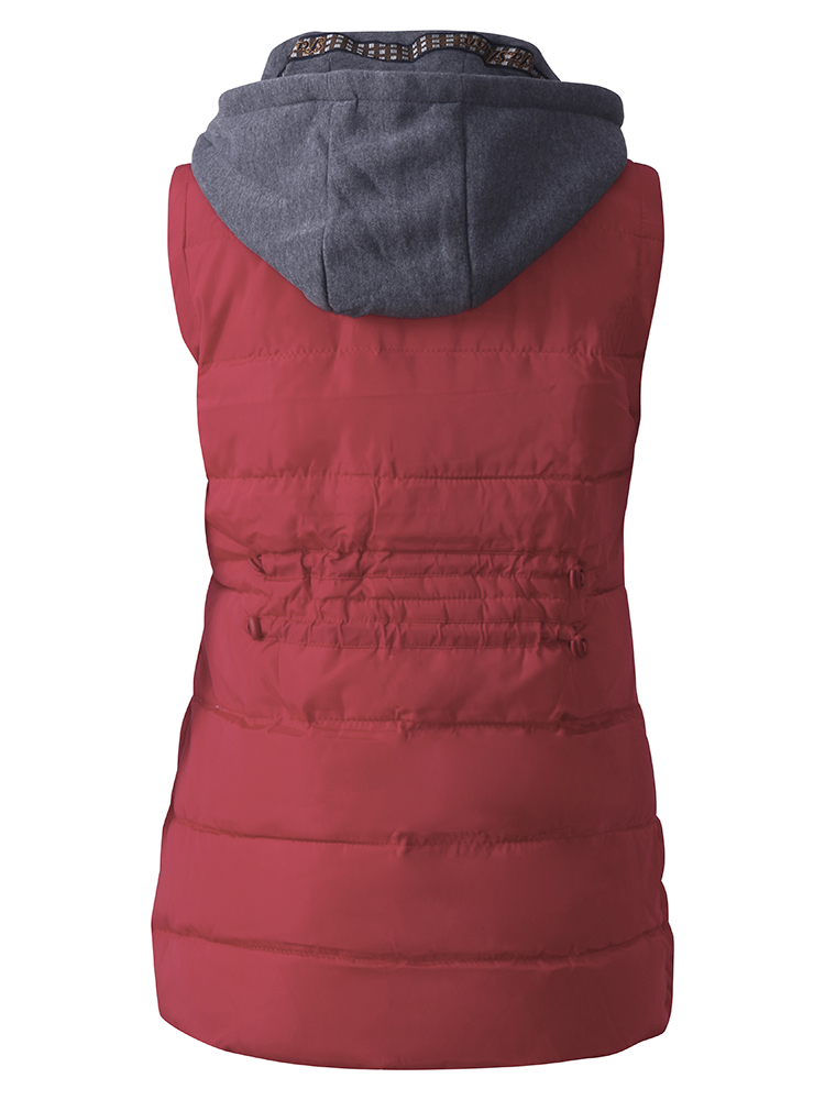 Casual Hooded Thick Cotton-Padded Women Down Vest Coat
