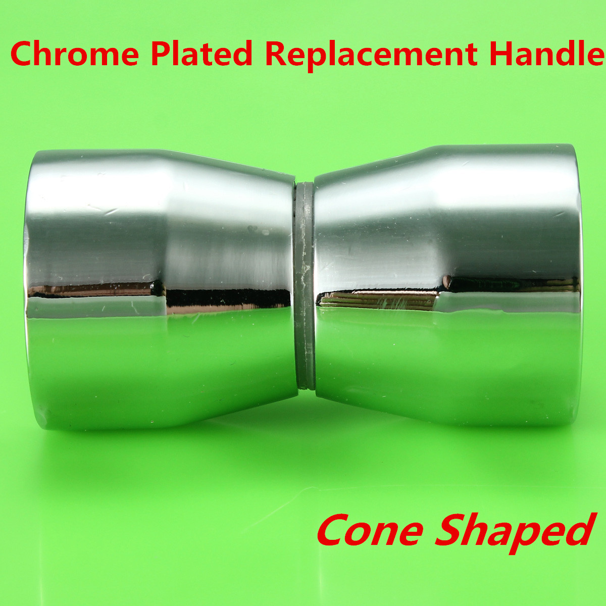 Shower Door Cabinet Room Handle Knob Chrome Plated Cone